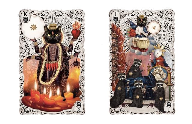 Cartes chattes collection niveau chattes noires